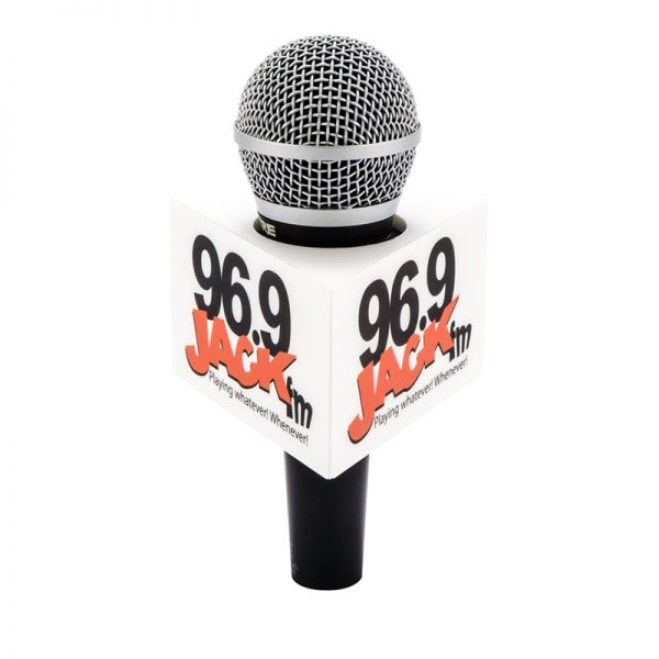 Jack FM triangle mic flag for handheld microphones