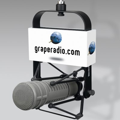Grape Radio mic flag