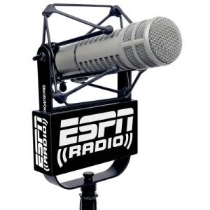 ESPN Studio Mic Flag used with EV 309 shock mount