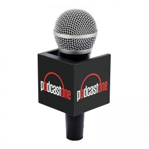 Podcast one mic clip on a handheld microphone