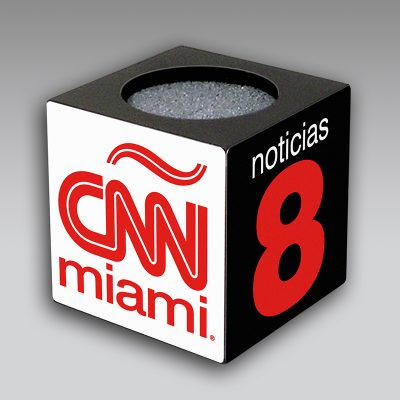 CNN Miami mic flag