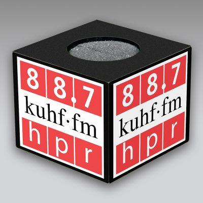 KUHF mic flag
