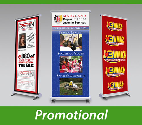 Banner stands for promotions and events